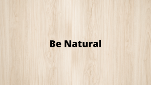 Topics For-Sales-Training-Be-Natural